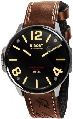 U-Boat Capsoil férfi karóra, 8110/A, Divatos, Svájci elektromechanikus, Bőr