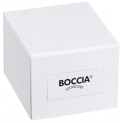 Boccia Titanium férfi karóra, 3637-02, Klasszikus, Kvarc, Bőr