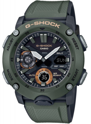 Casio G-Shock G-Classic férfi karóra, GA-2000-3AER, Sportos, Ana-digi, Műanyag