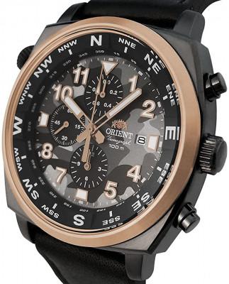 Orient Pilot Chronograph férfi karóra, FTT17003B0, Sportos, Kvarc, Bőr