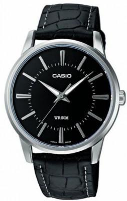 Casio Standard férfi karóra, MTP-1303L-1A, Elegáns, Kvarc, Bőr