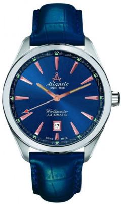 Atlantic Worldmaster 2 Automatic férfi karóra, 53750.41.51R, Elegáns, Automata, Bőr