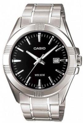 Casio Standard férfi karóra, MTP-1308D-1A, Klasszikus, Kvarc, Acél