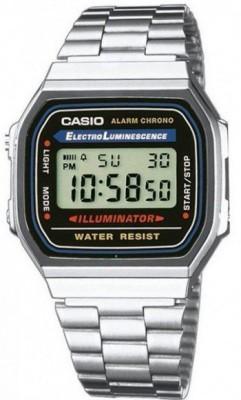 Casio Retro unisex karóra, A168WA-1YES, Sportos, Digitális, Nemesacél