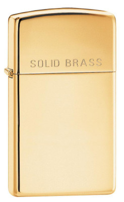 Zippo Slim High Polish Brass öngyújtó, Z1654B