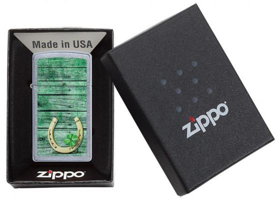 Zippo Slim® Horseshoe Design öngyújtó, Z49123