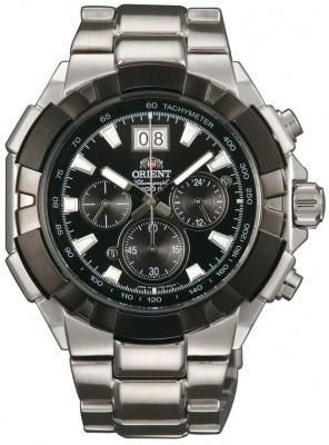 Orient Enterprise Chronograph férfi karóra, FTV00002B0, Sportos, Kvarc, Nemesacél