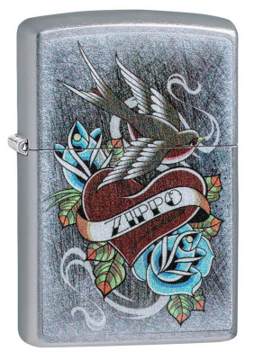 Zippo Vintage Tattoo Street Chrome ™ öngyújtó, Z29874