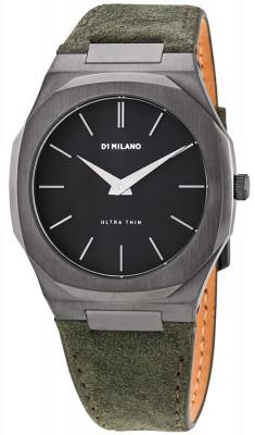 D1 Milano Ultra Thin Suede férfi karóra, UTLJ06, Divatos, Kvarc, Bőr