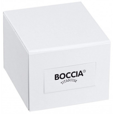 Boccia Titanium férfi karóra, 3624-02, Divatos, Kvarc, Bőr