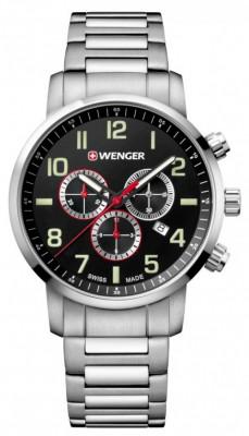 Wenger Attitude Chronograph férfi karóra, 01.1543.102, Sportos, Kvarc, Nemesacél