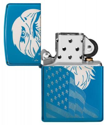 Zippo High Polish Blue Eagle and Flag öngyújtó, Z29882
