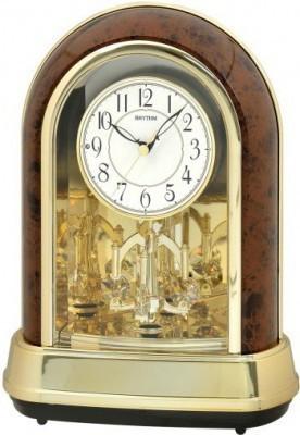 Rhythm Crystal Dulcet II Woodgrain asztali-kandalló óra, 4RH791WD23, Kvarc