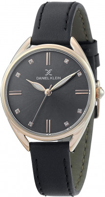 Daniel Klein Premium női karóra, DK.1.12371-7, Divatos, Kvarc, Bőr