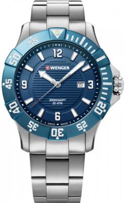 Wenger Seaforce férfi karóra, 01.0641.133, Búvár, Kvarc, Nemesacél