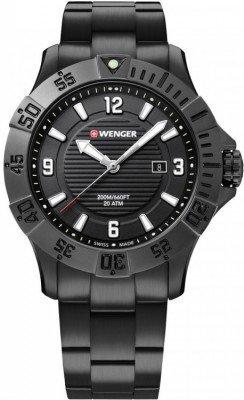 Wenger Seaforce férfi karóra, 01.0641.135, Búvár, Kvarc, Nemesacél
