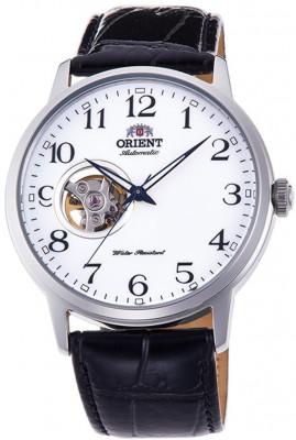 Orient Esteem III Open Heart férfi karóra, RA-AG0009S10B, Elegáns, Automata, Bőr