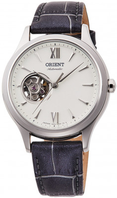 Orient Stela Open Heart női karóra, RA-AG0025S10B, Elegáns, Automata, Bőr