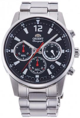 Orient Sporty Chronograph férfi karóra, RA-KV0001B10B, Sportos, Kvarc, Nemesacél