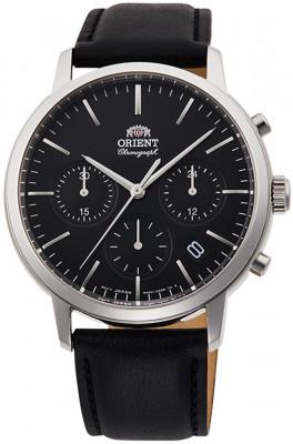 Orient Contemporary Chronograph férfi karóra, RA-KV0303B10B, Klasszikus, Kvarc, Bőr