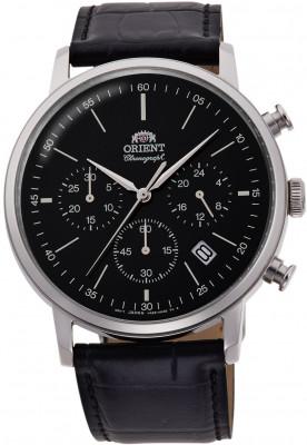 Orient Classic Chronograph férfi karóra, RA-KV0404B10B, Klasszikus, Kvarc, Bőr