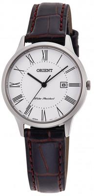 Orient Contemporary Quartz női karóra, RF-QA0008S10B, Klasszikus, Kvarc, Bőr