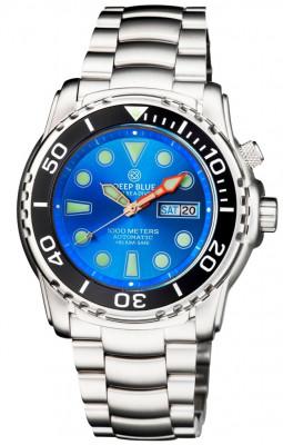 Deep Blue Pro Sea Diver 1000M férfi karóra, PSD1KLIGHTBLUE, Búvár, Automata, Nemesacél