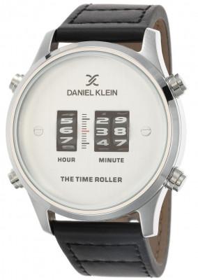 Daniel Klein Premium férfi karóra, DK.1.12438-1, Divatos, Kvarc, Bőr