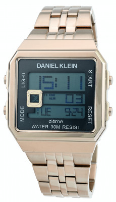Daniel Klein D:Time férfi karóra, DK.1.12274.5, Divatos, Digitális, Nemesacél