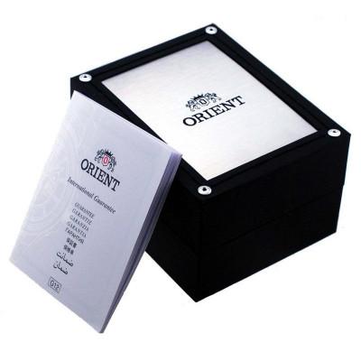 Orient Esteem III Open Heart férfi karóra, RA-AG0011L10B, Elegáns, Automata, Bőr