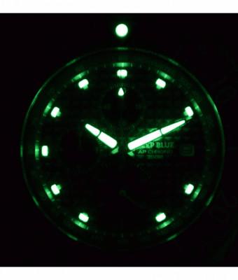 Deep Blue Chronograph All Purpose férfi karóra, APCHRONOBLUE, Búvár, Kvarc, Szilikon