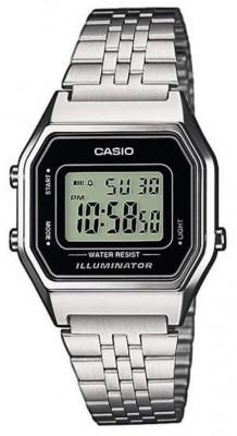 Casio Retro női karóra, LA680WEA-1EF, Sportos, Digitális, Nemesacél