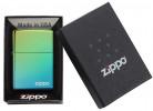 Zippo Classic High Polish Teal Zippo Logo öngyújtó, Z49191ZL