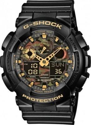 Casio G-Shock férfi karóra, GA-100CF-1A9, Sportos, Ana-digi, Műanyag
