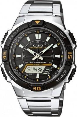 Casio Tough Solar férfi karóra, AQ-S800WD-1E, Sportos, Ana-digi, Nemesacél