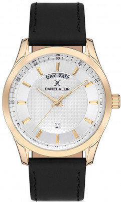 Daniel Klein Premium férfi karóra, DK.1.12579.6, Divatos, Kvarc, Bőr