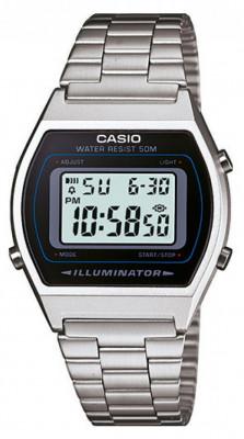 Casio Retro férfi karóra, B640WD-1AVEF, Digitális, Acél