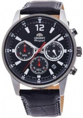 Orient Sporty Chronograph férfi karóra, RA-KV0005B10B, Sportos, Kvarc, Bőr