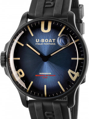 U-Boat Darkmoon Blue IPB Soleil 44mm férfi karóra, 8700, Sportos, Kvarc, Gumi