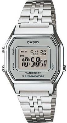 Casio Retro női karóra, LA680WEA-7EF, Divatos, Digitális, Nemesacél