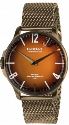U-Boat Rainbow 44 Bronze férfi karóra, U8468-MT, Sportos, Kvarc, IP