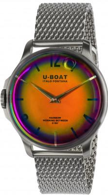 U-Boat Rainbow 44 Orange SS férfi karóra, U8469-MT, Divatos, Kvarc, Nemesacél