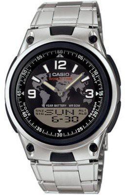 Casio Active Dial férfi karóra, AW-80D-1A2, Sportos, Ana-digi, Nemesacél