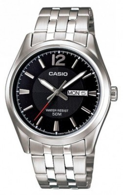 Casio Standard férfi karóra, MTP-1335D-1A, Kvarc, Acél