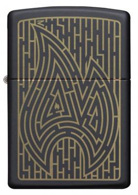 Zippo Black Matte Maze Design öngyújtó, Z49597