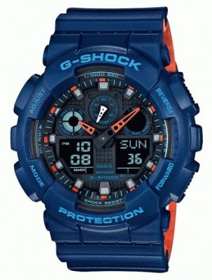 Casio G-Shock férfi karóra, GA-100L-2AER, Sportos, Ana-digi, Szilikon