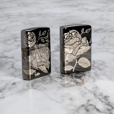 Zippo Black Ice®Currency Design öngyújtó, Z49156