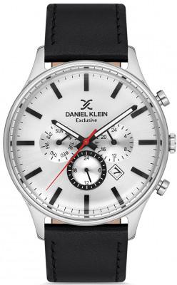 Daniel Klein Exclusive férfi karóra, DK.1.12753-1, Divatos, Kvarc, Bőr