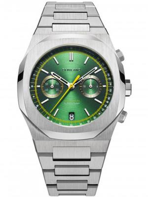 D1 Milano Noble Green Audax chrono férfi karóra, CHBJ10, Sportos, Kvarc, Nemesacél