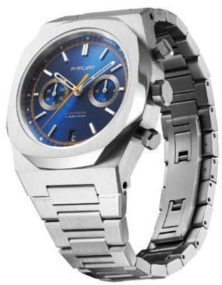 D1 Milano Royal Blue Audax chrono férfi karóra, CHBJ09, Sportos, Kvarc, Nemesacél